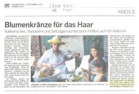 hoffest velbrück im Kölner stadtanzeiger & in der kölnische Rundschau
